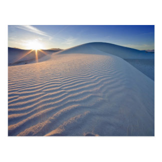 Sand dunes at White Sands National Monument in 5 Postcard