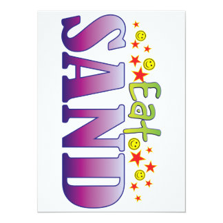 Sand Eat 14 Cm X 19 Cm Invitation Card