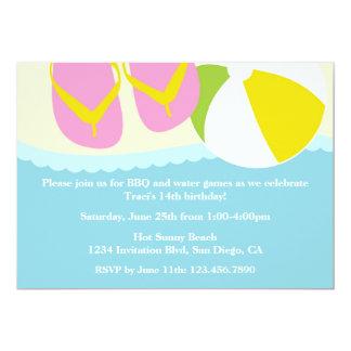 Sandals and Beach Ball Beach Party Invitation