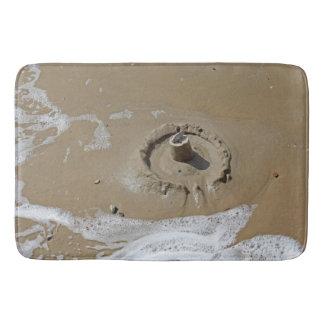 Sandcastle bath mat