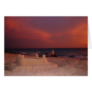 Sandcastle Sunset Card