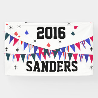 Sanders Big & Bold Flags Stars 2016 Elections