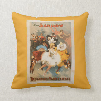 Sandow Trocadero Vaudevilles Carnival Theme Cushion