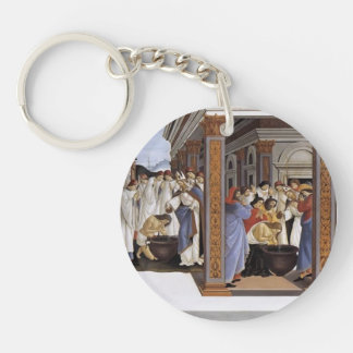 Sandro Botticelli- Baptism of St Zenobius Keychain