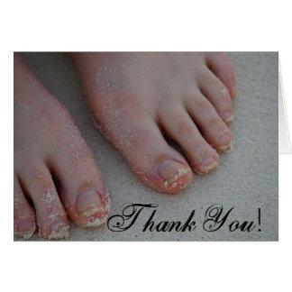 sandy feet, Thank You! Card