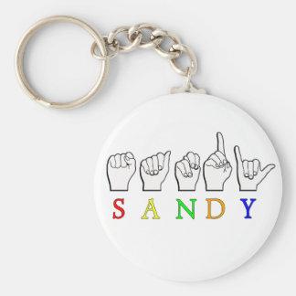 SANDYASL SIGN LANGUAGE BASIC ROUND BUTTON KEY RING