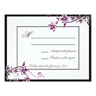 Sangria White Floral Blossom Wedding Response RSVP 11 Cm X 14 Cm Invitation Card