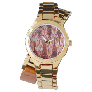 Sanguine Point Women's Wraparound Gold Watch