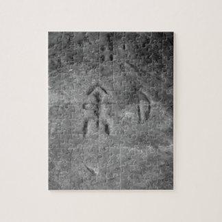 Sanilac Petroglyphs Michigan The Hunter Jigsaw Puzzle