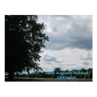 """Sank Augustin garbage village to the victory "" Postcard"