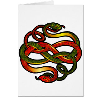 Sanke knotwork card