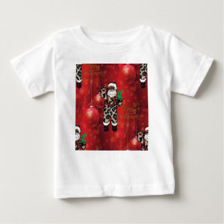 santa african leopard claus red baby T-Shirt