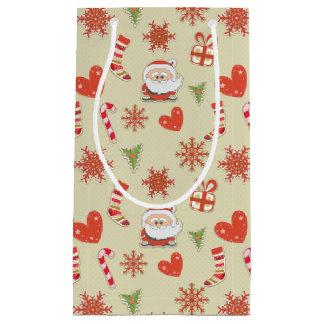 Santa and candy canes - gift bag