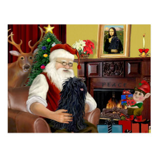 Santa and his Puli Postcard