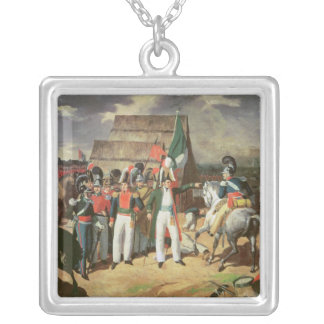 Santa Anna defies the Spanish troops Silver Plated Necklace