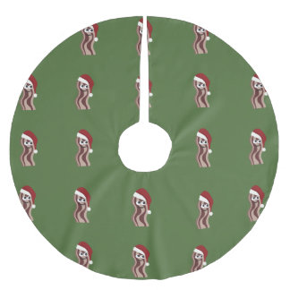 Santa Bacon Brushed Polyester Tree Skirt