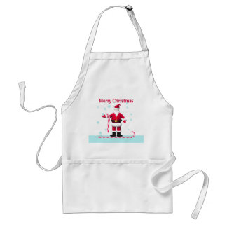 Santa, Candy Cane and Stars Christmas Standard Apron