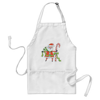 Santa Claus and Candy Cane Apron