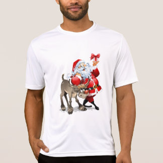 Santa Claus and his reindeer Christmas T-Shirt