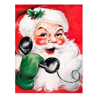 Santa Claus Calling Postcard