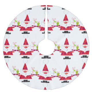 Santa Claus Christmas Brushed Polyester Tree Skirt