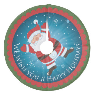 Santa Claus Christmas holiday Tree Skirt