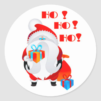 Santa Claus. Classic Round Sticker