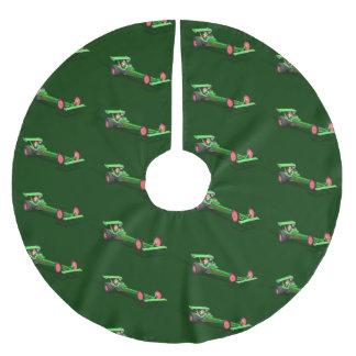 Santa Claus Drag Race Brushed Polyester Tree Skirt