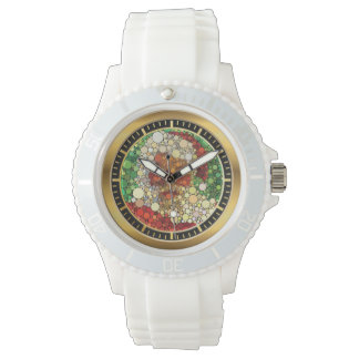 Santa Claus Funny Blindness Color  Watch