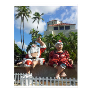 Santa Claus in Hawaii Postcard