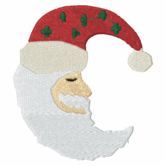 Santa Claus Moon Embroidery Pattern