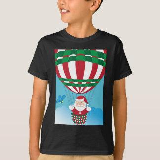 Santa Claus on hot air balloon T-Shirt