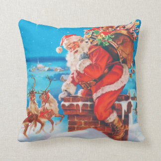 Santa Claus on The Night Before Christmas Throw Pillow