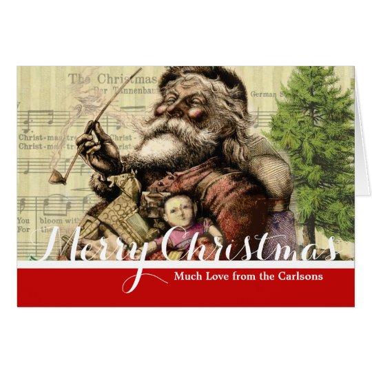 Santa Claus Vintage Art Print Christmas Card