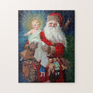 Santa Claus with Christ Child Jigsaw Puzzle
