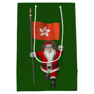 Santa Claus With Ensign Of Hong Kong Medium Gift Bag