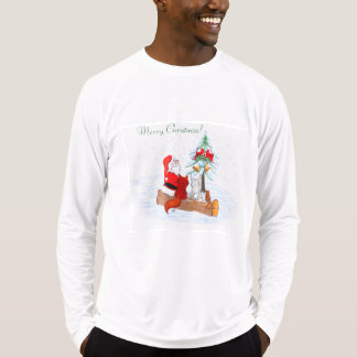 Santa Claus  with Rabbit Fox and Squirrel T-Shirt