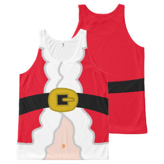 Santa Claus's Belly All-Over Print Singlet