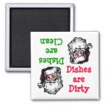 Santa Clean Dirty Dishwasher Magnet