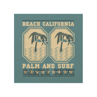 Santa Cruz, California | Palm and Surf Wood Wall Decor