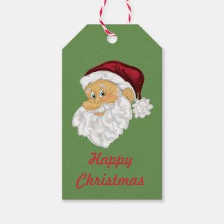 Santa face custom Christmas gift labels