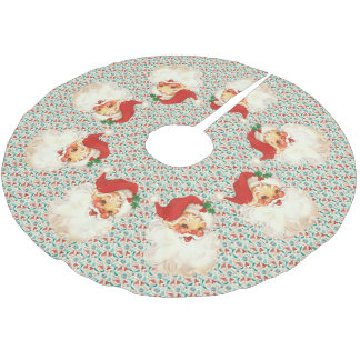 santa face vintage tree skirt