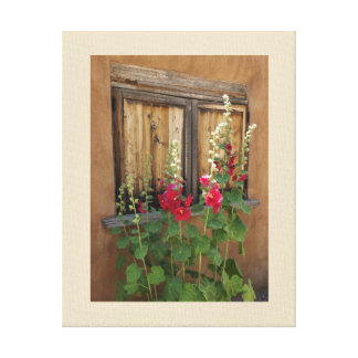 Santa Fe Holly Hocks Wrapped Canvas