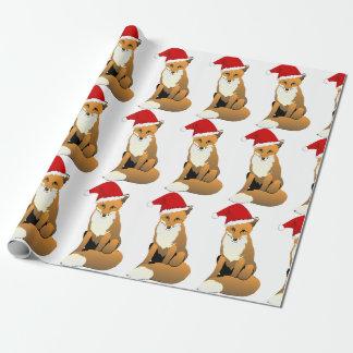 Santa Fox Wrapping Paper