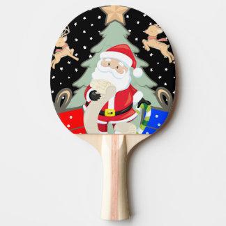 Santa Has A List Ping Pong Paddle