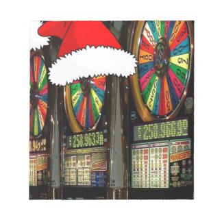 Santa Hat Slot Machines Notepad