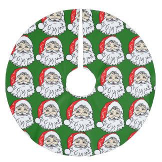 Santa Head Bushy Beard Brushed Polyester Tree Skirt