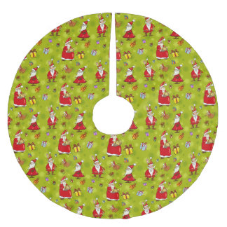Santa & His Little Helper Christmas Tree Skirt
