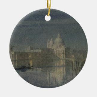 Santa Maria Della Salute, Venice, Moonlight, 1863 Christmas Ornament
