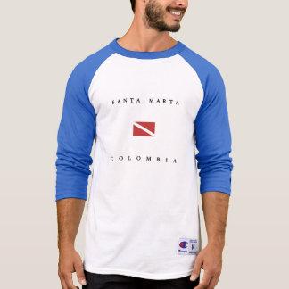 Santa Marta Colombia Scuba Dive Flag T-Shirt